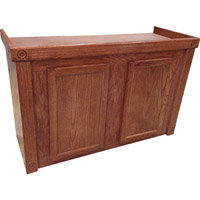 R & J Enterprises Cherry Oak Empire Cabinet for 75/90/110 Gallon Glass Aquariums, 48.75 L X 18.5 X 32 H