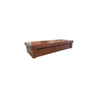 R & J Enterprises Cherry Oak Empire Canopy for 75/90/110 Gallon Glass Aquariums, 48.75 L X 18.5 X 10 H