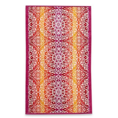 Ombre Medallion Beach Towel
