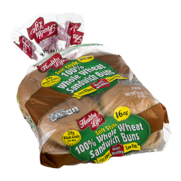 Healthy Life Soft Style Sandwich Buns Whole Wheat - 8 PK