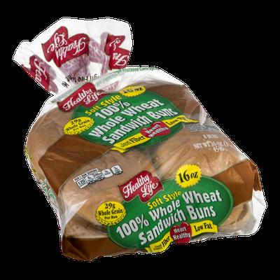 Healthy Life Soft Style Sandwich Buns Whole Wheat - 8 PK