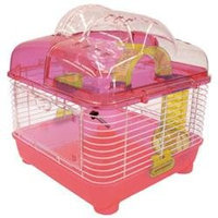 YML H1010PK 10 in. Clear Plastic Hamster-Mice Cage in Pink
