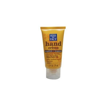KISS MY FACE Organic Hand Creme Grapefruit Bergamot 1 OZ