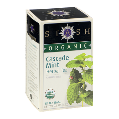 Stash Organic Herbal Tea Caffeine Free Cascade Mint