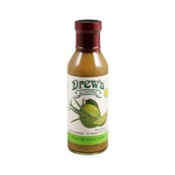 Drews All Natural Thai Sesame Lime Dressing & Marinade 12 oz. (Pack of 12) ( Value Bulk Multi-pack)