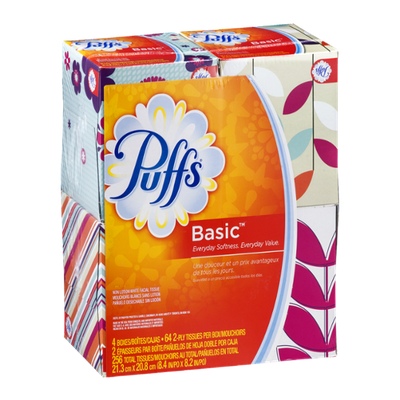 Puffs Basic Facial Tissue