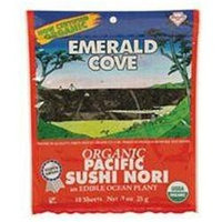 Emerald Cove Organic Toasted Sushi Nori Sheets - 0.9 oz