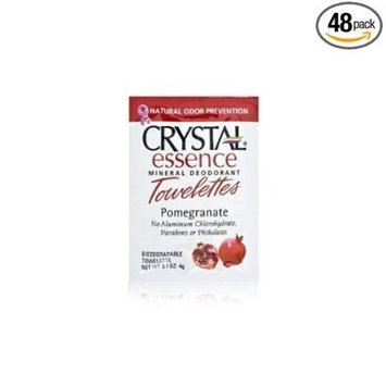 Crystal Essence Mineral Deodorant Towelettes Pomegranate (Pack of 48)