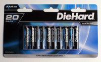 Diehard DieHard 20 pack AAA size Alkaline battery