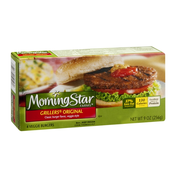 MorningStar Farms Grillers Veggie Burgers Original - 4 CT