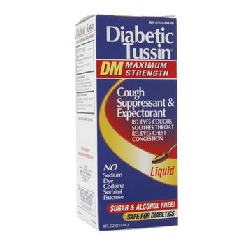Diabetic Tussin Cough Suppressant & Expectorant DM Maximum Strength Liquid