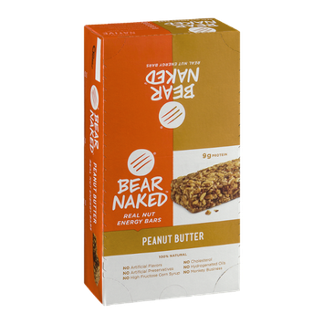 Bear Naked Real Nut Energy Bars Peanut Butter - 12 CT