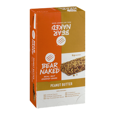 Bear Naked Real Nut Energy Bars Peanut Butter - 12 CT