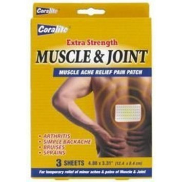 Coralite Extra Strength Muscle & Joint Ache Relief Pain Patch 3 Sheets