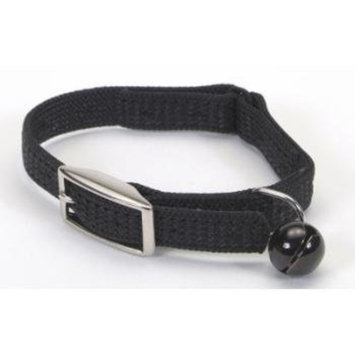 COASTAL PET PRODUCTS, INC. Coastal Pet Sassy Snag-Proof Nylon Cat Safety Collar (Black, 12 Inch L x 3/8 Inch W)