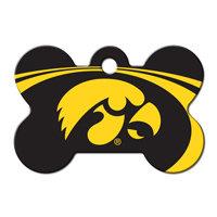 Quick-Tag Iowa Hawkeyes NCAA Bone Personalized Engraved Pet ID Tag, 1 1/2 W X 1 H