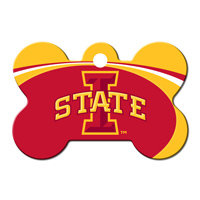 Quick-Tag Iowa State NCAA Bone Personalized Engraved Pet ID Tag, 1 1/2 W X 1 H