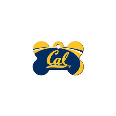 Quick-Tag Cal Golden Bears NCAA Bone Personalized Engraved Pet ID Tag, 1 1/2 W X 1 H