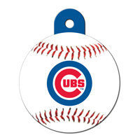 Quick-Tag Chicago Cubs MLB Personalized Engraved Pet ID Tag, 1 1/4 W X 1 1/2 H