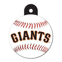 Quick-Tag San Francisco Giants MLB Personalized Engraved Pet ID Tag, 1 1/4 W X 1 1/2 H