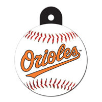 Quick-Tag Baltimore Orioles MLB Personalized Engraved Pet ID Tag, 1 1/4 W X 1 1/2 H