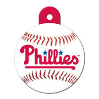Quick-Tag Philadelphia Phillies MLB Personalized Engraved Pet ID Tag, 1 1/4 W X 1 1/2 H