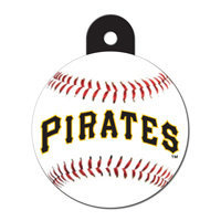 Quick-Tag Pittsburgh Pirates MLB Personalized Engraved Pet ID Tag, 1 1/4 W X 1 1/2 H