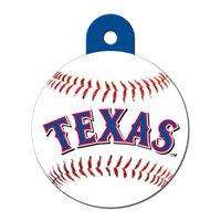 Quick-Tag Texas Rangers MLB Personalized Engraved Pet ID Tag, 1 1/4 W X 1 1/2 H