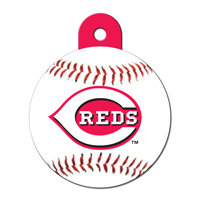 Quick-Tag Cincinnati Reds MLB Personalized Engraved Pet ID Tag, 1 1/4 W X 1 1/2 H