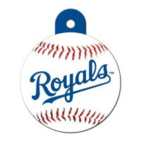 Quick-Tag Kansas City Royals MLB Personalized Engraved Pet ID Tag, 1 1/4 W X 1 1/2 H