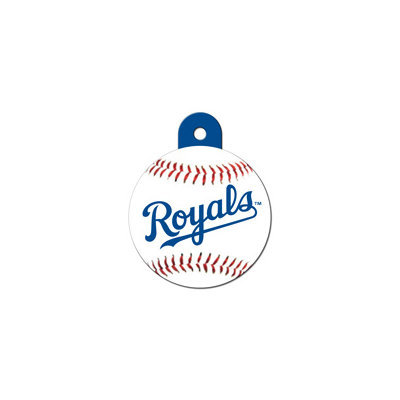 Quick-Tag Kansas City Royals MLB Personalized Engraved Pet ID Tag, 1 1/4 W X 1 1/2 H