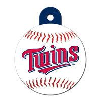 Quick-Tag Minnesota Twins MLB Personalized Engraved Pet ID Tag, 1 1/4 W X 1 1/2 H