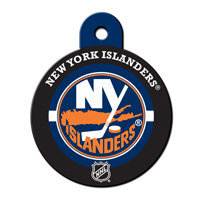 Quick-Tag New York Islanders NHL Personalized Engraved Pet ID Tag, 1 1/4 W X 1 1/2 H