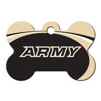 Quick-Tag Army NCAA Bone Personalized Engraved Pet ID Tag, 1 1/2 W X 1 H
