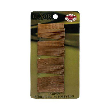 Luxor Professional 60 Bobby Pins - 4 Crimps - Rubber Tips