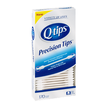 Q-tips Cotton Swabs Precision Tips - 170 CT