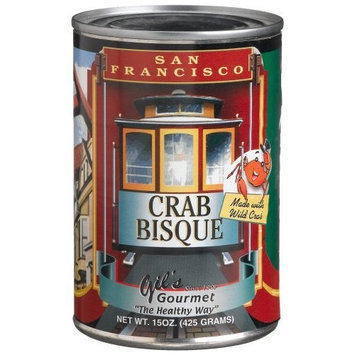 Gil's Gourmet San Francisco Crab Bisque, 15-Ounce Cans (Pack of 12)
