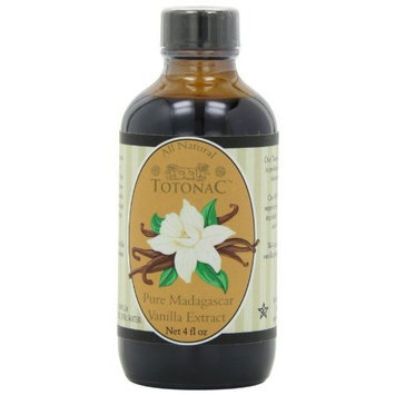Totonac Pure Madagascar Vanilla Extract, 4-Ounce Containers (Pack of 3)