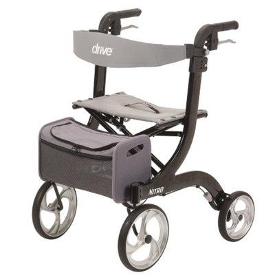 Drive Medical Nitro Euro Style Rollator Walker, Black, 1 ea