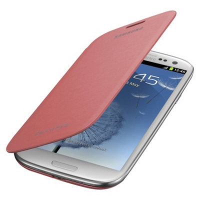 Samsung Flip Cell Phone Case for Samsung Galaxy S III - Pink (EFC-