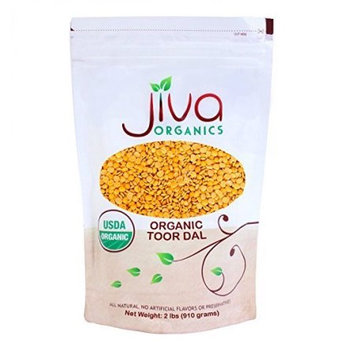 Jiva USDA Organic Toor Dal (Split Pigeon Peas) 2 Pound Bag