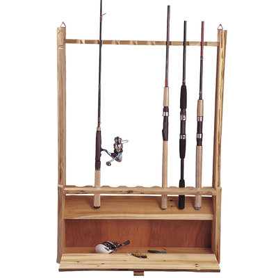 Rush Creek Log 8 - Rod Rack With Storage