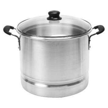 IMUSA Imusa 32 Quart Aluminum Cool Touch Steamer with Glass Lid - Silver