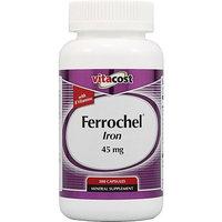 Vitacost Brand Vitacost Ferrochel Iron with B Vitamins -- 45 mg - 300 Capsules