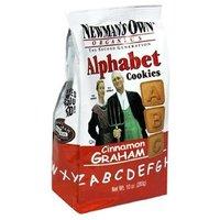 Newman's Own man's Own Organics Alphabet Cookies, Cinnamon Graham, 10-Ounce Bags (Pack of 12)