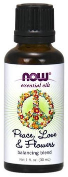 Peace, Love & Flowers Essential Oil Blend Now Foods 1 fl oz Oil