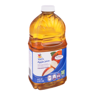 Apple Juice 100% From Concentrate Unsweetened