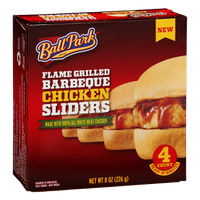 Ball Park Barbeque Chicken Sliders Flame Grilled - 4 CT