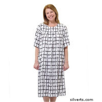 Silvert's Silverts 210001203 Womens Value Priced Adaptive Open Back Dress Classic Check - Medium