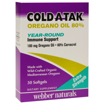 Cold Atak Oregano Oil 80% Year-Round Immune Support, Softgels